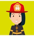 woman fire helmet mask vector image