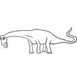 cartoon diplodocus dinosaur for coloring book vector image
