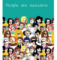 Big group people sky and sign vector image