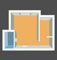 architectural color floor plan vector image