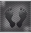 Steel footprint vector image
