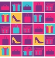 Background bright shopping in your life vector image