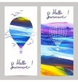Air Travel Banners vector image