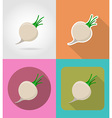 vegetables flat icons 08 vector image