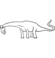 cartoon diplodocus dinosaur for coloring book vector image
