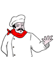 Chef draw vector image