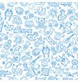 children with toys seamless pattern with vector image