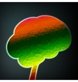 Colorful structure in the form of brain vector image