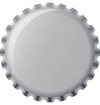 Metallic bottle cap vector image