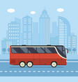 public city bus concept vector image