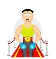 cartoon flat champion Boxing sport vector image