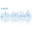 Outline Auckland Skyline vector image