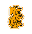 logo on the theme of pets dog cat rabbit vector image