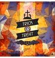 Happy Halloween grungy retro background vector image vector image