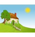 House with plants background vector image