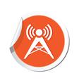 wireless icon orange sticker vector image vector image