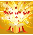 new year box vector image vector image