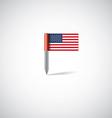 usa flag pin vector image