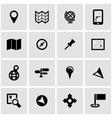 black map icon set vector image vector image
