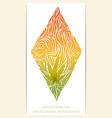 Abstract Ornament of Marijuana vector image