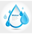Water drop for info graphic vector image