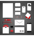 Template for branding identity vector image