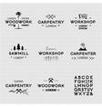 Vintage woodwork logotypes vector image