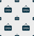 open icon sign Seamless pattern with geometric vector image