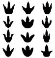 footprints of dinosaur vector image vector image