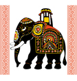 festive indian elephant vector image