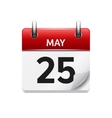May 25  flat daily calendar icon Date vector image