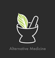 alternative medicine logo vector image