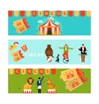 Circus banners in modern flat style vector image