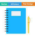 Flat design icon of Exercise book vector image