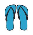 flip flop sandals icon image vector image
