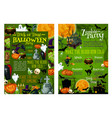 halloween party invitation posters vector image