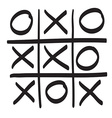 Hand drawn tic tac toe scribble icon symbol vector image