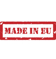 Made in eu vector image