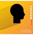 Man silhouette profile picture Flat modern web vector image