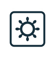 ship wheel icon Rounded squares button vector image