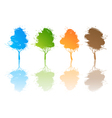 Set of colored trees vector image vector image