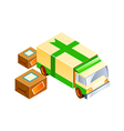 icon truck and package vector image vector image