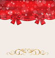 holiday background with gift bows vector image