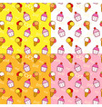 ice creams and cupcakes seamless pattern vector image vector image
