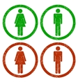 Men and women grunge icons vector image vector image