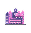 colorful majestic palace building vector image vector image