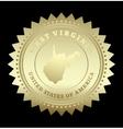 Gold star label West Virginia vector image