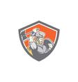 Viking Raider Barbarian Warrior Axe Shield vector image vector image