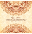 Vintage background in Indian mehndi style vector image vector image