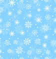Seamless Pattern with Variation Snowflakes vector image
